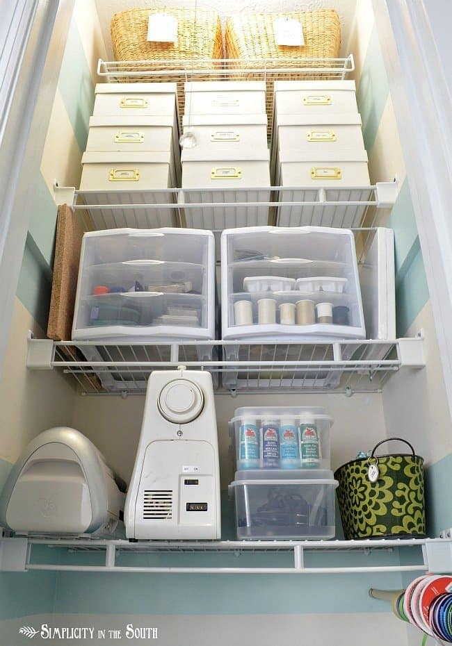 Small craft closet organization:Craft closet organization tips: Part of the small home, big ideas series, find out how to organize your craft supplies