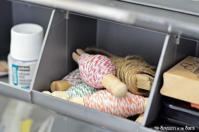 Storage bin for craft supplies