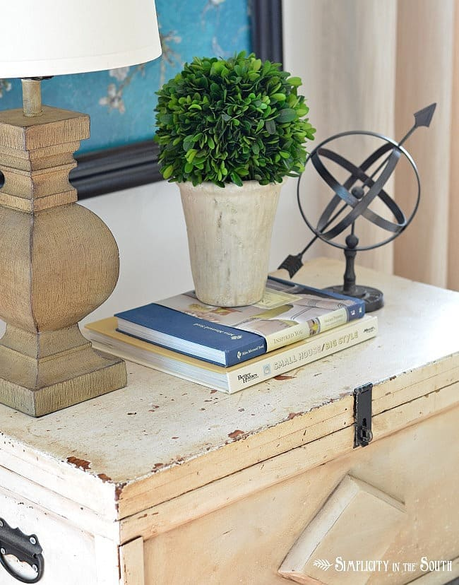 Carpenters tool chest side table