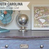 DIY South Carolina Map Art- State Pride Tour