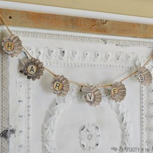 Repurposed Vintage Tart Tin Molds Garland: A Simple Fall Craft Project Idea