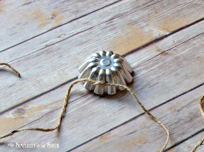 Tart tin garland- Fall decoration