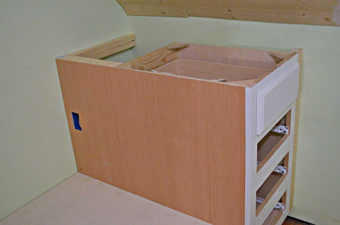 how to make a built in bed using stock kitchen cabinets - How To Make Kitchen Cabinets