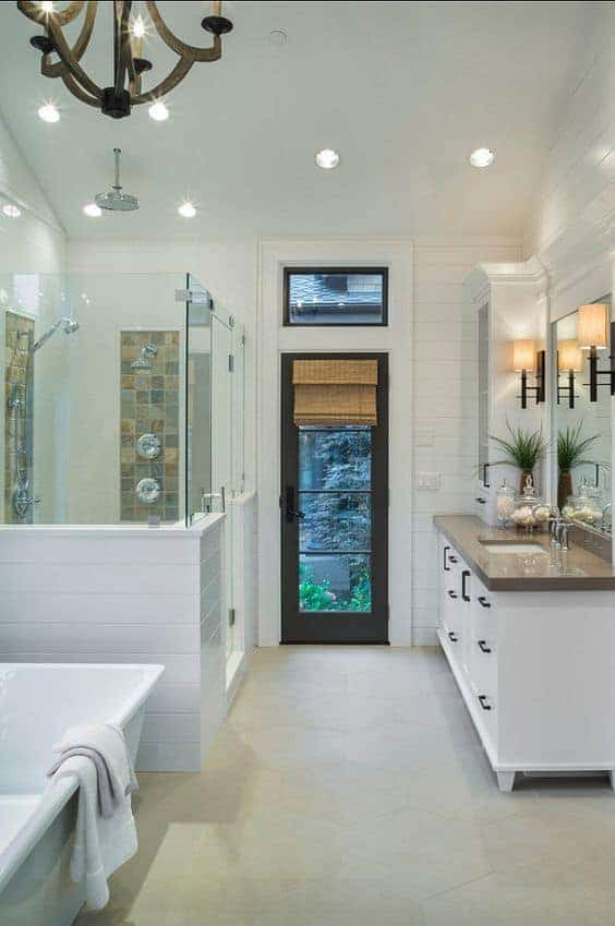 Eclectic Farmhouse Master Bathroom Inspiration and Mood Board 1
