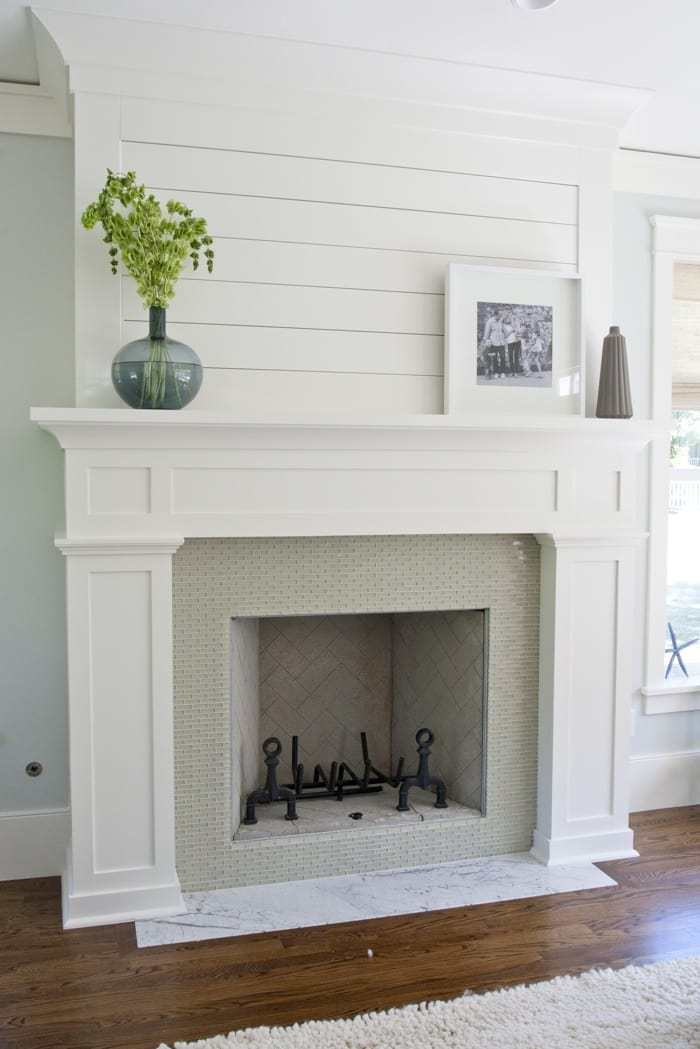 Fireplace via Tiek Built Homes