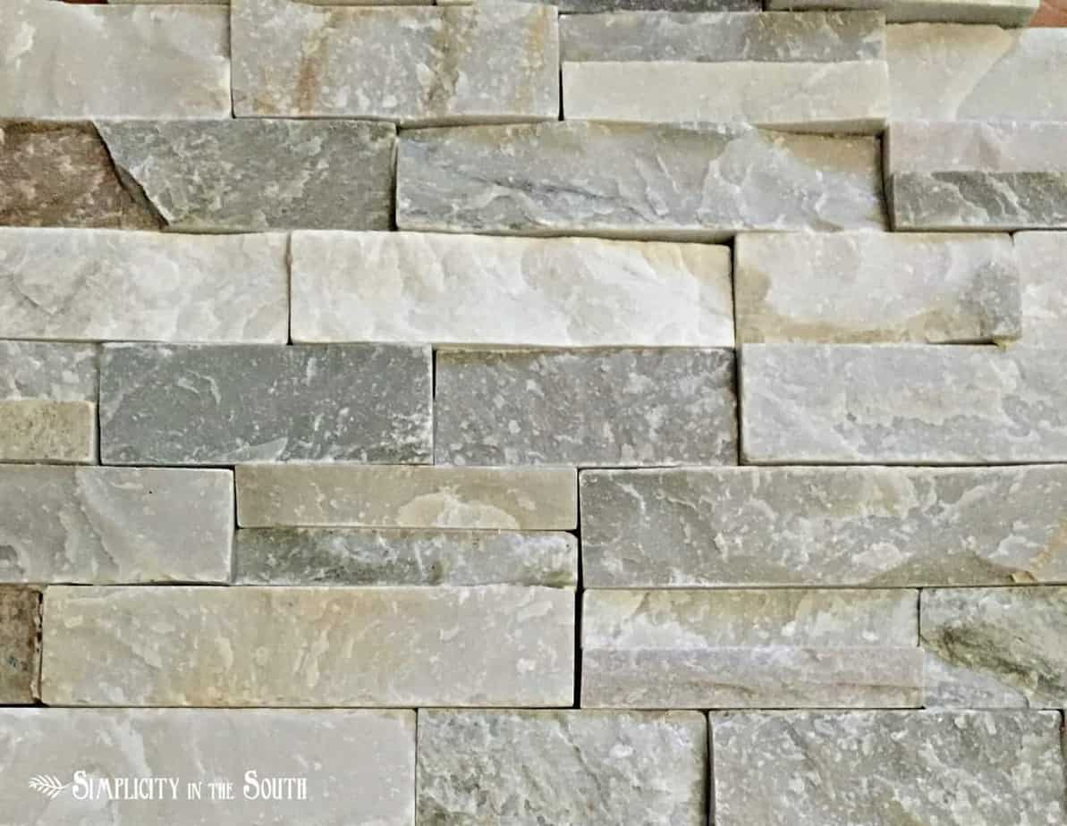 Desert quartz ledge stone from Lowes