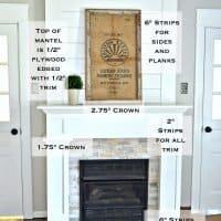 DIY Budget Shiplap Fireplace Surround Makeover
