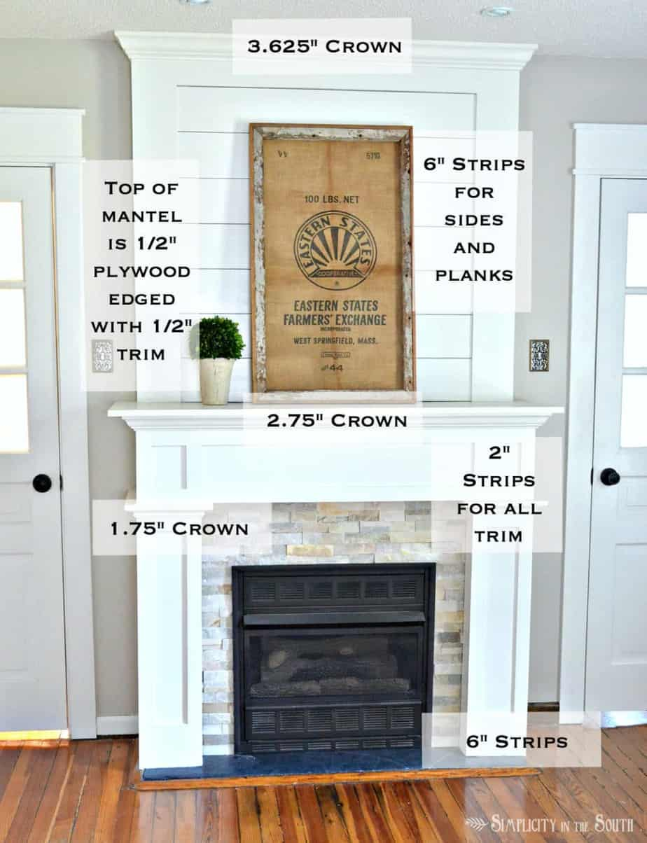 Trim Work On A Simple Farmhouse Style Fireplace Surround With Shiplap. Such  An Easy Way