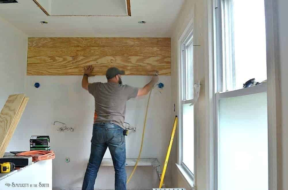 Shiplap gives you the casual, farmhouse look that so many of us are after. Ever wondered if you can use shiplap walls in the bathroom using plywood? The answer is yes! This post gives you the tips and tricks you need to know before you tackle this budget friendly DIY project on your own.