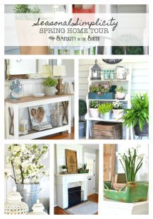 Seasonal Simplicity Spring Home Tour-by Simplicity in the South