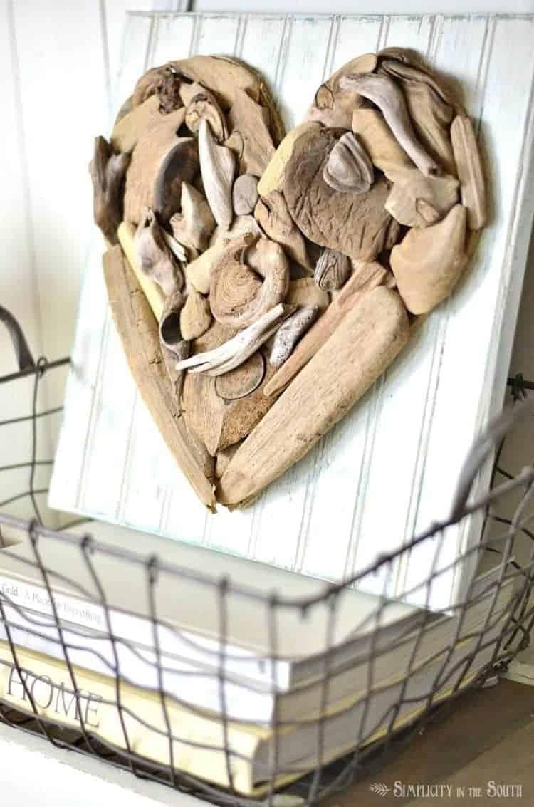Seasonal Simplicity Spring Home Tour- driftwood heart