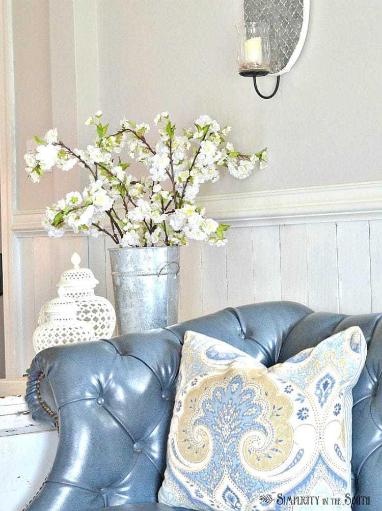 Spring home tour- living room