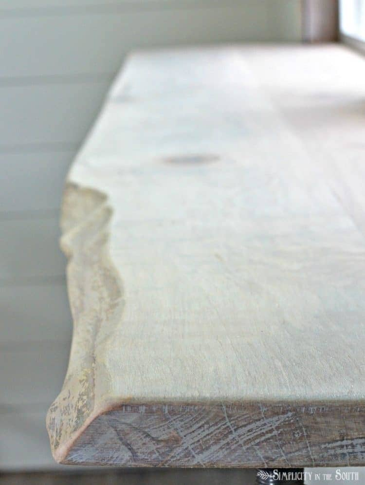 DIY Live Edge Wood Bar & An Easy Way to Join Wood Planks Using Basic Tools (Video Tutorial) 9