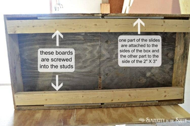 DIY Reclaimed Wood Sliding TV Cover: Now You See It. Now You Don't 18