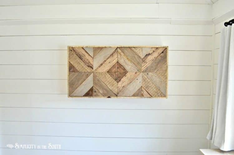 DIY Reclaimed Wood Sliding TV Cover: Now You See It. Now You Don't 21