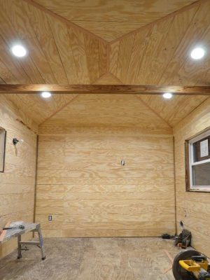 ORC Week 3: The Cottage Guest Shed Shiplap Walls, Painting & Lighting