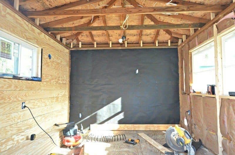 ORC Week 3: The Cottage Guest Shed Shiplap Walls, Painting & Lighting 4