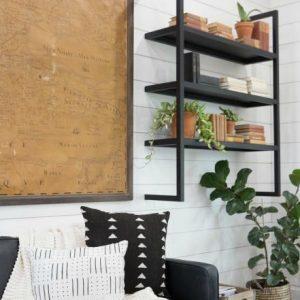 Fixer Upper floating metal shelf