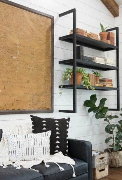 Fixer Upper floating metal shelf