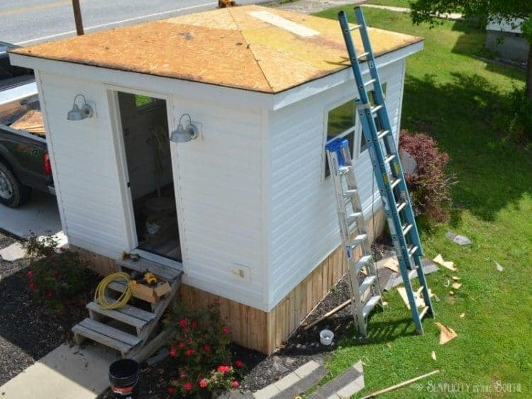 What a Difference a Weekend Makes: Exterior Improvements to The Cottage Shed Guest House 7