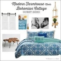 ORC Week 1: Modern Farmhouse Meets Cozy Bohemian Cottage Guest Shed Plans & Before Pictures