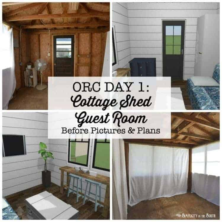 One Room Challenge Modern Farmhouse Meets Cozy Bohemian Cottage- Guest Cottage Shed