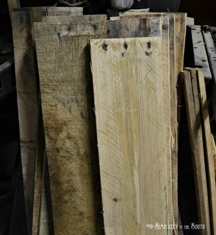DIY Reclaimed Wood Sliding TV Cover: Now You See It. Now You Don't 4
