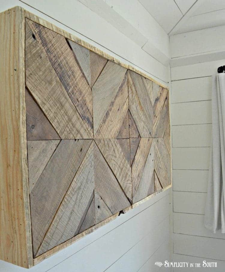 DIY Reclaimed Wood Sliding TV Cover: Now You See It. Now You Don't 20
