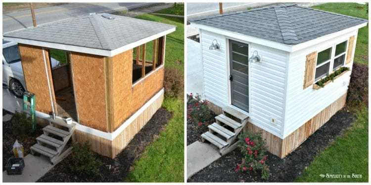 What a Difference a Weekend Makes: Exterior Improvements to The Cottage Shed Guest House 15