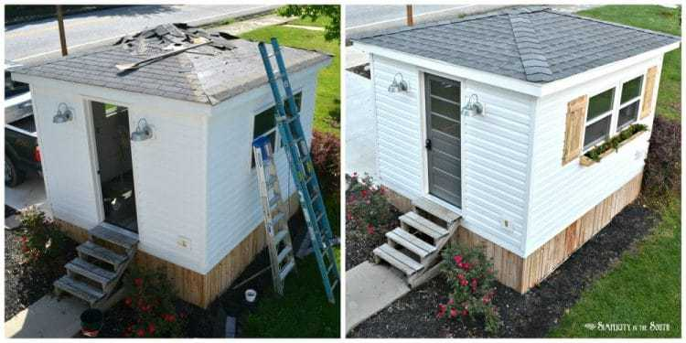 What a Difference a Weekend Makes: Exterior Improvements to The Cottage Shed Guest House 14