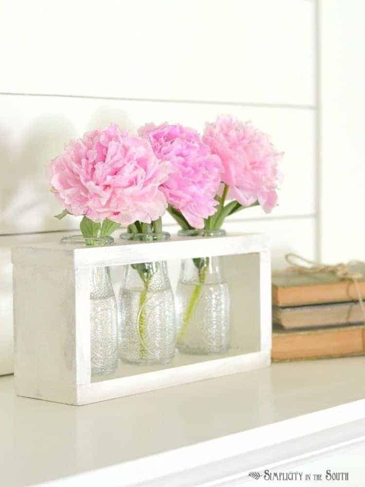 DIY Wooden Vase Holder Idea Dollar Tree Crafts.