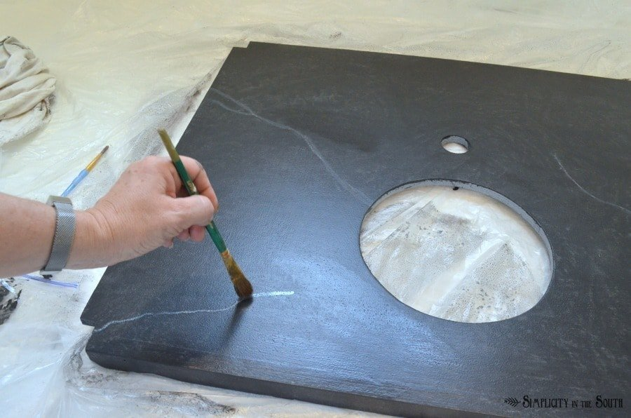 DIY Soapstone Countertops Using Paint 7