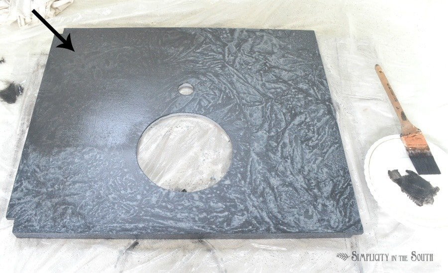 DIY Soapstone Countertops Using Paint 4