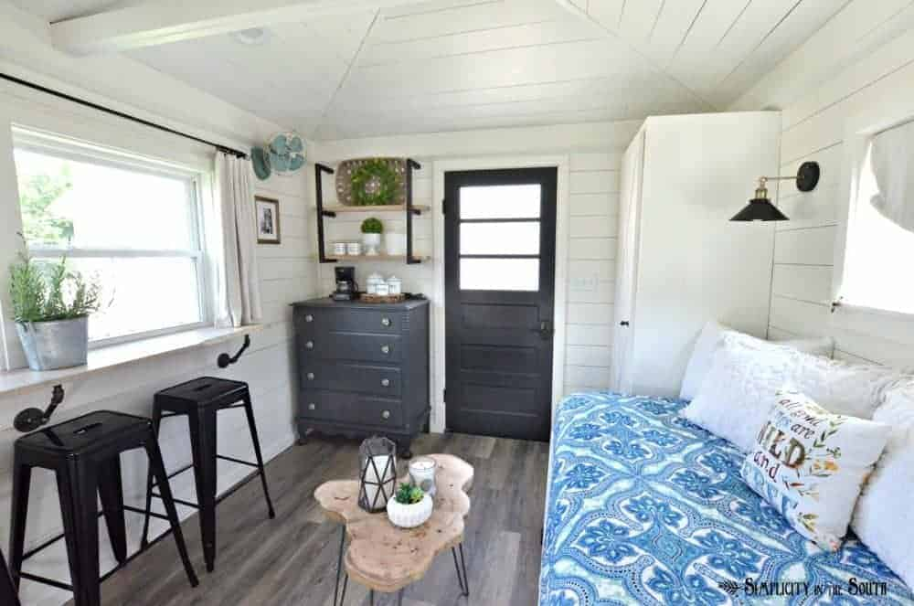 The cottage guest shed reveal
