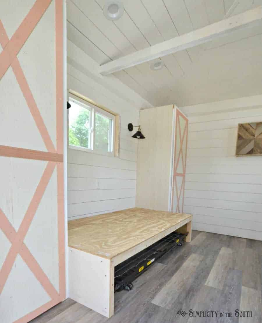 diy built in trundle bed for a tiny guest house