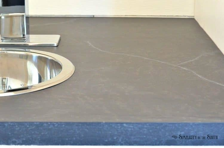 Paint Countertop To Look Like Soapstone : DIY Soapstone Countertops Using Paint - Simplicity in the South
