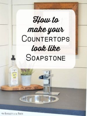 DIY Soapstone Countertops Using Paint