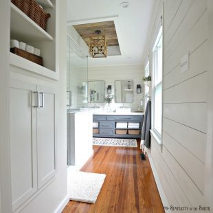 The Modern Farmhouse Master Bathroom Reveal: Turning a Bedroom into a Bathroom