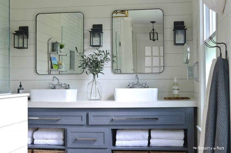 Modern Farmhouse Style Master Bathroom Remodel On A Budget Simplicity In Th