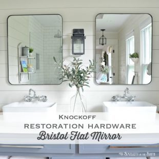 Knockoff Restoration Hardware Bristol Flat Mirror | DIY Modern Farmhouse Mirror