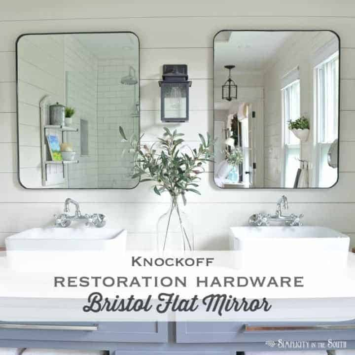 Knockoff Restoration Hardware Bristol Flat Mirror | DIY Modern Farmhouse Mirror