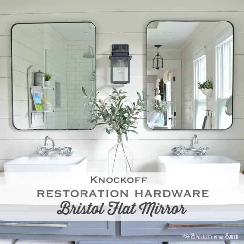 Love this!!! This tutorial shows step by step how to make a knockoff of Restoration Hardware's Bristol Flat mirror.