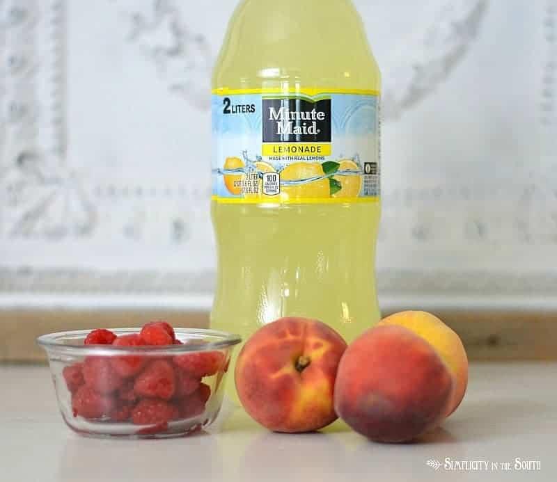 Raspberry & Peach Lemonade ingredients