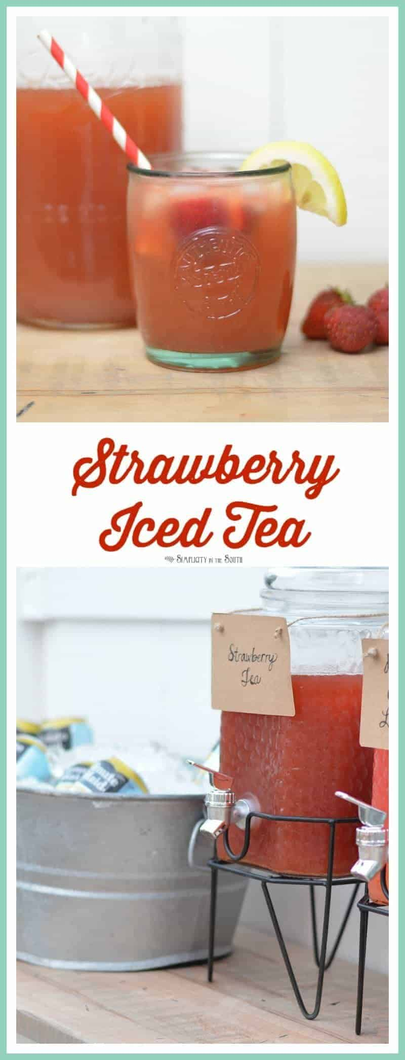 Strawberry Iced Tea This sweet and refreshing beverage can be made in 5 minutes!