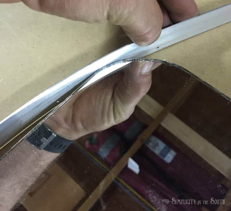 how to make a rounded rectangular mirror knock off of Restoration Hardware's Bristol Flat mirror