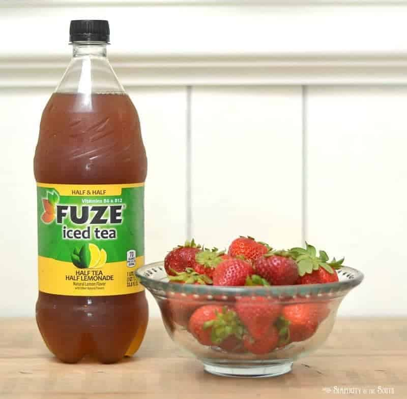 ingredients for strawberry iced tea