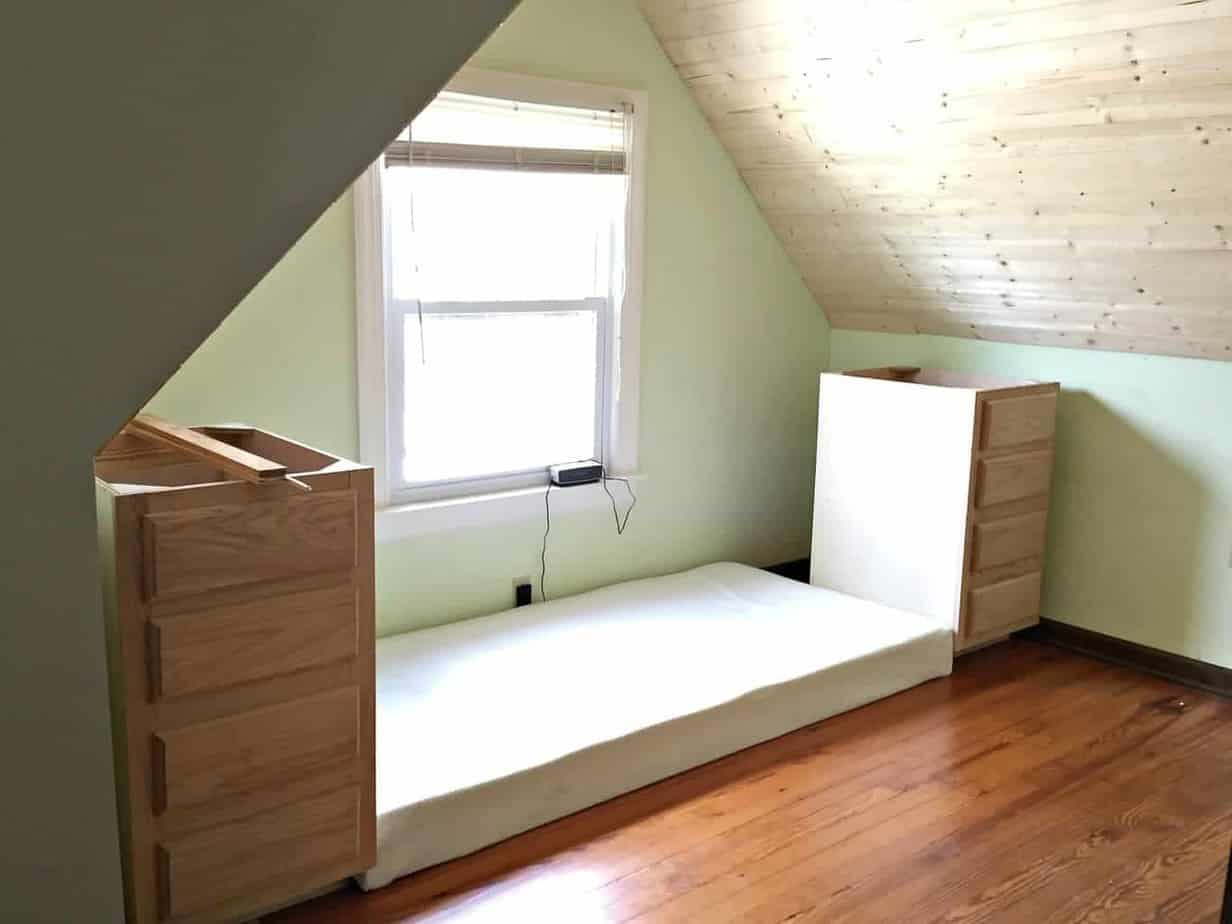 Built-in bed tutorial: how to make a built in bed using stock kitchen cabinets