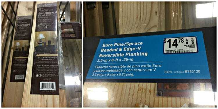 Reversible wood planking from Lowes. Item # 763120