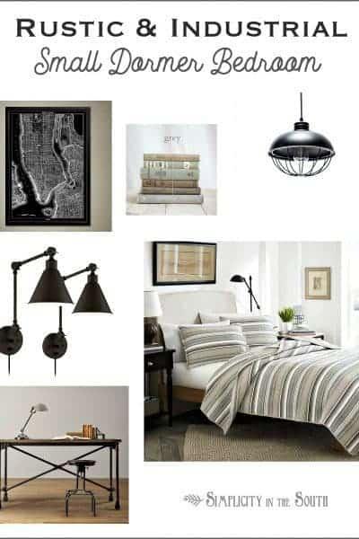 Rustic industrial dormer bedroom ideas