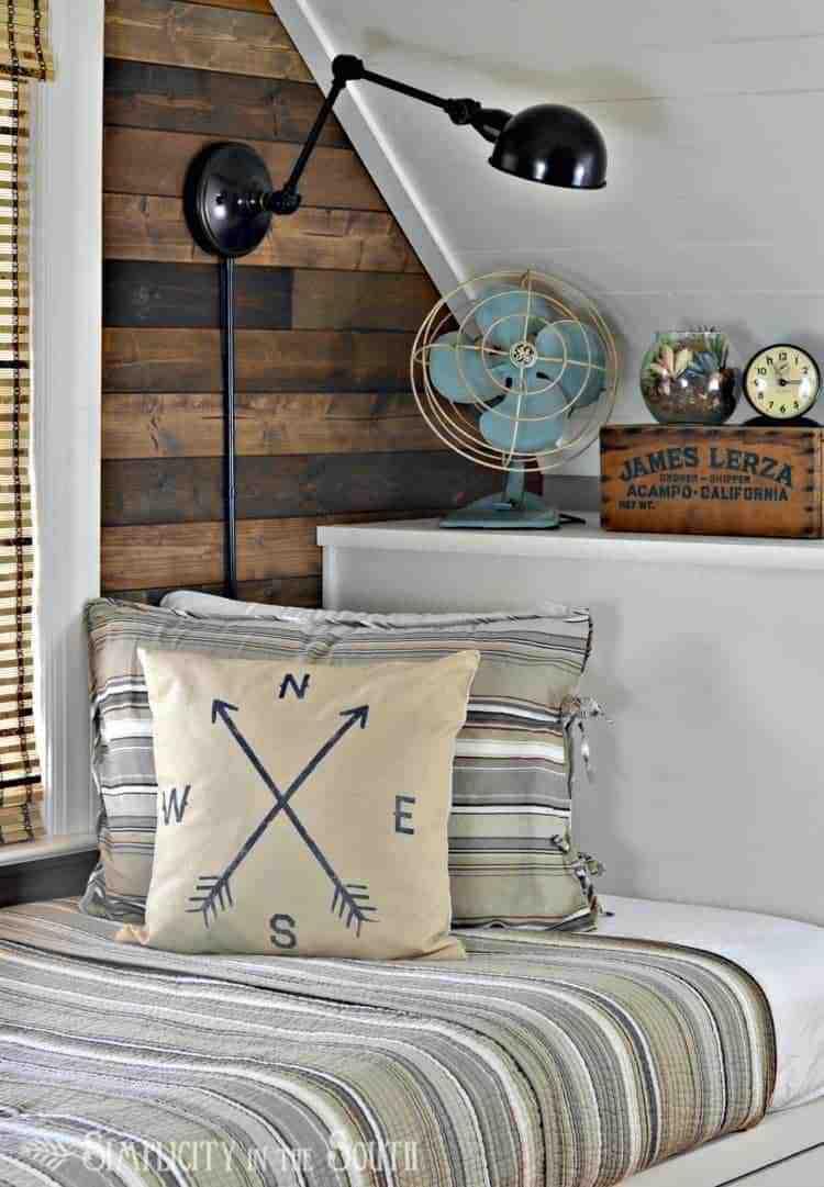 Rustic & industrial bedroom reveal: Restoration Hardware Inspired